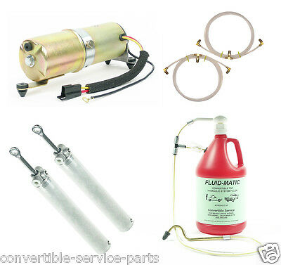 1968-1972 GM Mid Size Cars Convertible System Cylinders Hoses Motor + Fill Tool