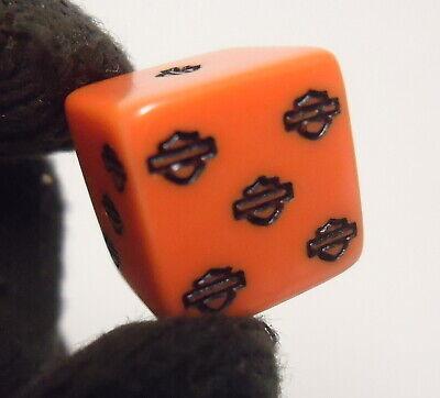 vintage harley davidson dice advertising orange playing board game pieces
