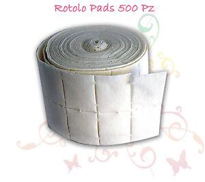 ROTOLO-500-PADS-CELLULOSA-RICOSTRUZIONE-UNGHIE-COTONE-SALVIETTE