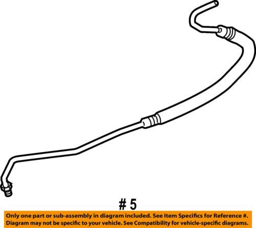 08-10 F250 Super Duty 6.4L Pump to Hydroboost /& Gear Power Steering Hoses 2