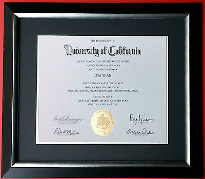 custom matted black navy blue silver diploma certificate frame university 15