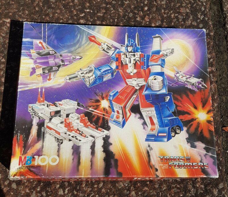 Vintage Transformers 1986 Hasbro Jigsaw Puzzle
