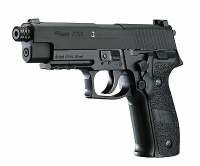 Black Semi Automatic Gun - SIG Sauer P226 Semi Automatic .177 Caliber Blowback CO2 Air Pellet Pistol Gun