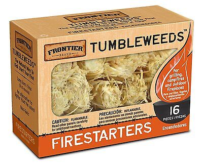 Frontier Tumbleweeds Natural Fire Starters 16 pc.  Non-Toxic!! + Free Shipping!!