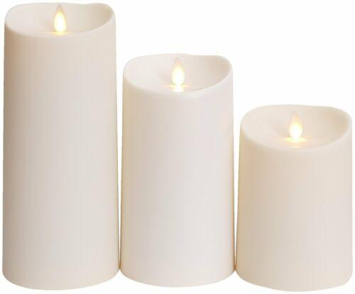 Luminara Outdoor Flameless Pillar Candles Soft-Touch Plastic