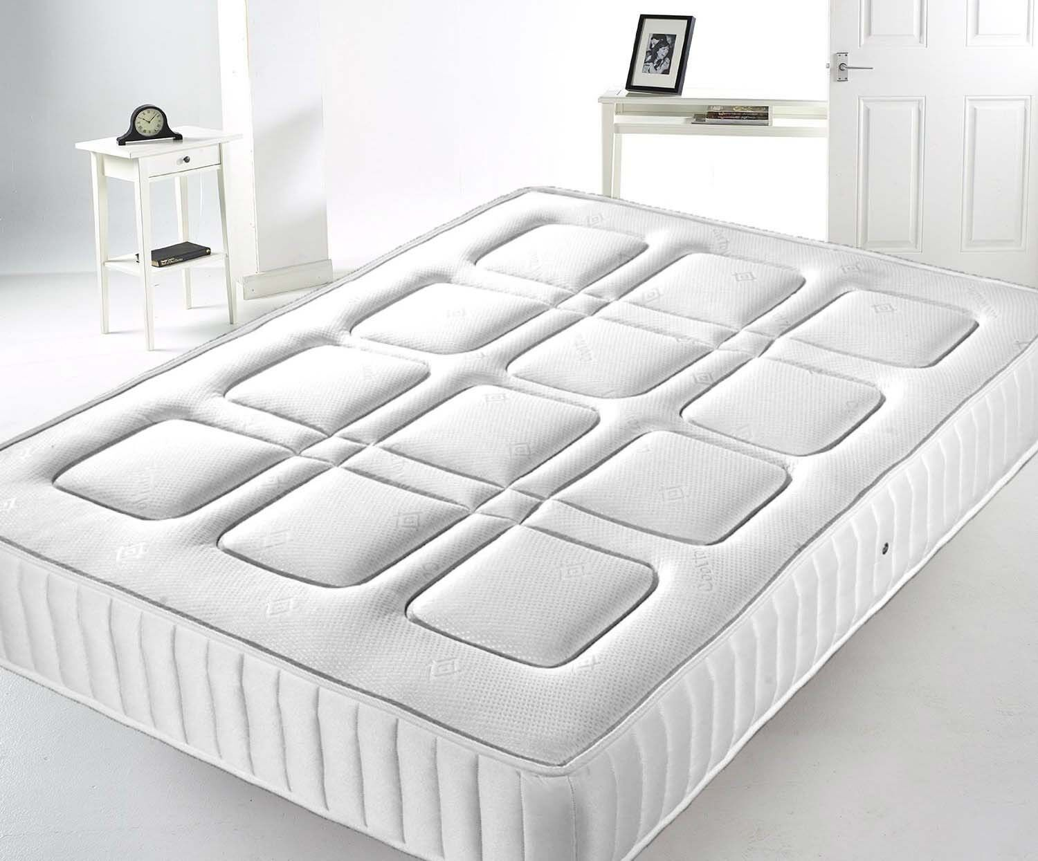new sprung mattress 3ft 4ft 39 6 5ft memory foam topped. Black Bedroom Furniture Sets. Home Design Ideas
