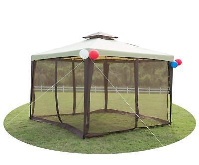 Outdoor Metal Gazebo Garden Patio Soft 2-tier Yard Canopy Party Tent W/ Netting ()