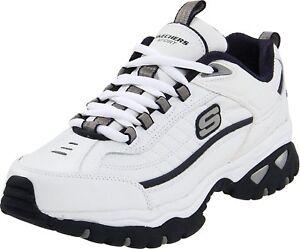 Skechers Sport Men's Energy Afterburn Lace-Up Sneaker,White,9 XW US