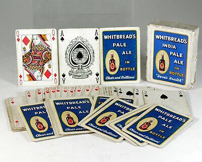 1920s WHITBREAD BREWERY INDIA PALE ALE ADVERTISING PLAYING CARDS BEER ADVERT