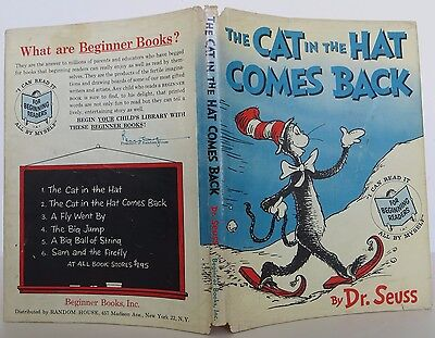 DR. SEUSS The Cat in the Hat Comes Back INSCRIBED FIRST EDITION