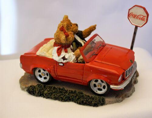 2007 Coca-Cola Boyds Bears Red Convertible carSusan Ronald Sunday Drive 919988