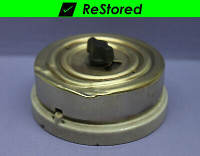 Vintage Rotary Switch Double-pole Dpst Porcelainbrass W Fuses 10a250v - Hh