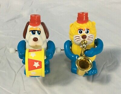 "Vintage TOMY Wind-Up Toys 2.5"" Band Animals Playing Instruments Toys"