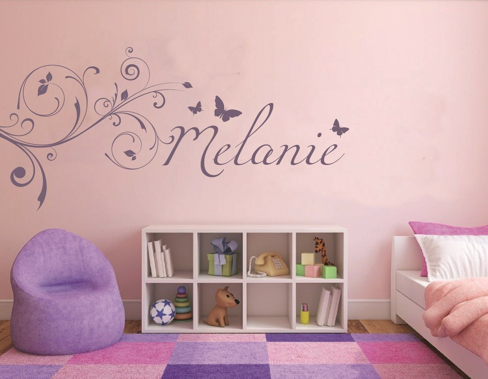 wandtattoo name kinderzimmer m dchen sticker baby. Black Bedroom Furniture Sets. Home Design Ideas