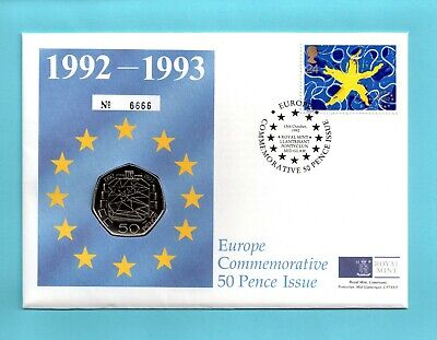 DUAL DATE 1992 - 1993 British Presidency EEC EC Council 50p Cover Coin