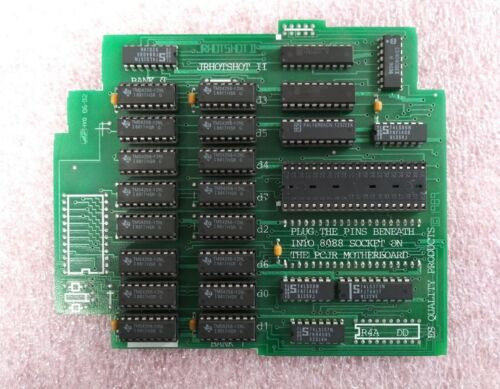 IBM PCjr HOTSHOT II 512k Memory Expansion Board