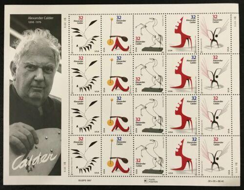 1998 Scott #3198-3202 - 32¢ - Alexander Calder - Full Sheet of 20 - Mint NH