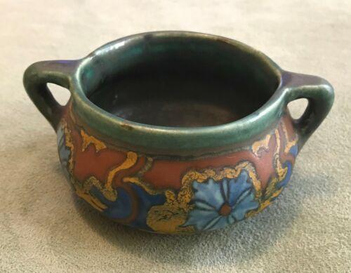"Anier Gouda Miniature- 1 3/4"" Vase - Matte Green, Maroon, Blue, Gold"
