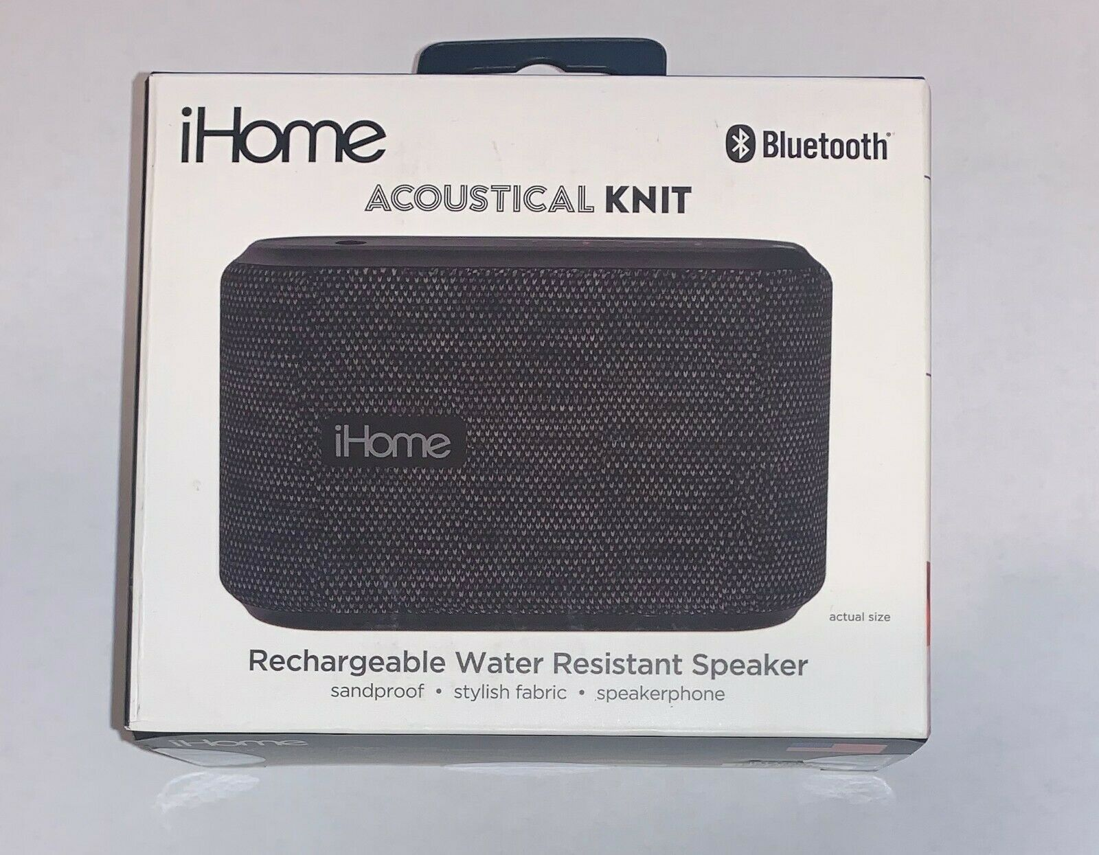 iHome Acoustical Knit Portable Rechargable Water Resistant B