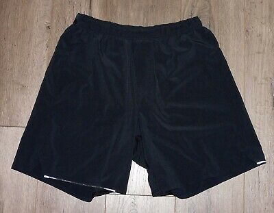"Men's LULULEMON Black Surge No Liner Fitness Athletic 6"" Shorts size Small"