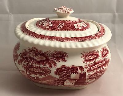 Copeland Spode Tower Pink Sugar Bowl with Lid Old Mark!