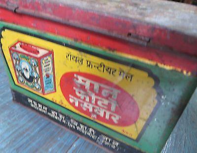 Royal Frontier Mail Seven Photo Snuff Adv Tin Box Popular Brand Poor Con Rarts