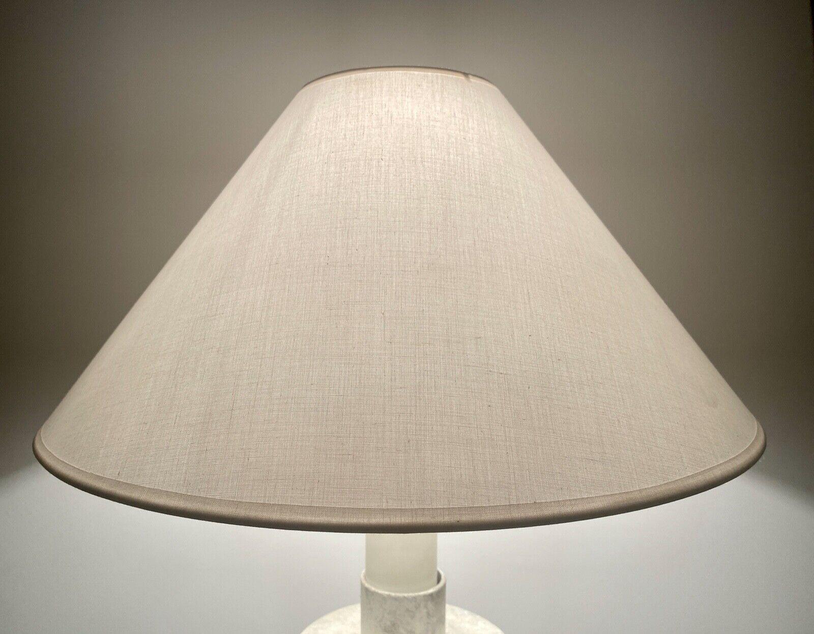 WHITE FLARE Hardback LAMPSHADE Versatile IMPERFECT CuTe 032620 Modern FINE LINEN