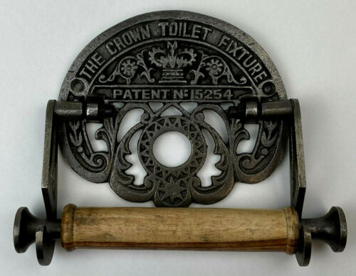 THE CROWN TOILET FIXTURE Metal & Wood Never Used