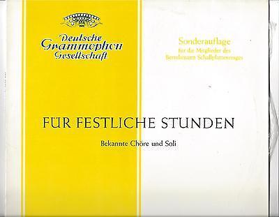 DGG 25 cm LP von 1959 : Margarete Klose - Kim Borg - Heinrich Schlusnus