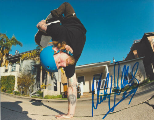 MIKE VALLELY SKATEBOARD LEGEND SIGNED 8X10 PHOTO G w/COA BONES BRIGADE PROOF
