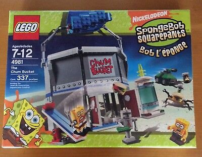 New SpongeBob Squarepants Lego - The Chum Bucket #4981 - FREE SHIPPING  - Spongebob Buckets