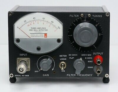 Gr General Radio 1232a Tuned Amplifier Null Detector 1232-a With Bnc Adapter