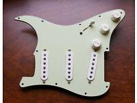 Fat 50s Fender Loaded Strat Pickguard CS Texas Special 69 Mint Green 7 Way USA