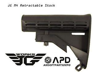 JG M4 Retractable Shoulder Stock Airsoft AEG Adjustable Golden Eagle GE