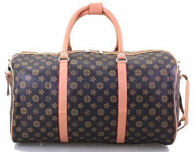 Designer Inspired Holdall Weekend Luggage Duffel Cabin Travel Case Carry On Bag (Designer Inspired Handbag Case)