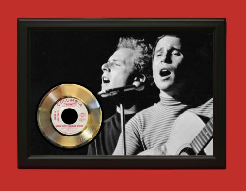 Simon And Garfunkel Bridge Over Troubled Water Framed 45 Gold Record Display C3