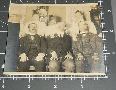 1900's SPIRIT GHOST WOMEN Scared Men SEE THROUGH Scary Girls Woman Vintage PHOTO](Scary Ghost Girl)