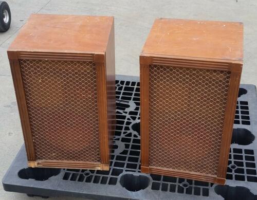 "Vintage Stromberg Carlson RS-404 12"" 2 Way Speaker Cabinets"