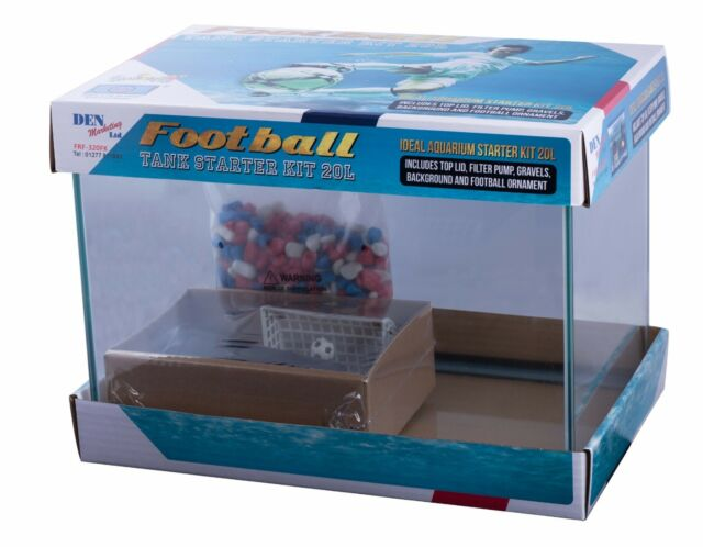 Fish R Fun Aquarium Small Starter Tank Kit Football Theme