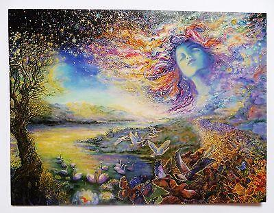 Josephine Wall 18x14cm Grußkarte Karte *Starscape* Blanko