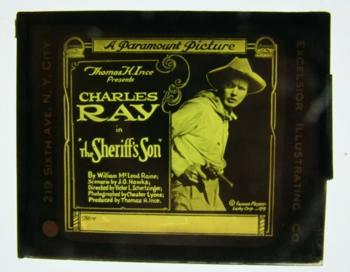 Movie Glass Slide- 1919 Charles Ray in The Sheriff