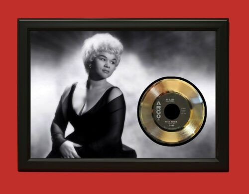 Etta James Poster Art Wood Framed 45 Gold Record Display C3