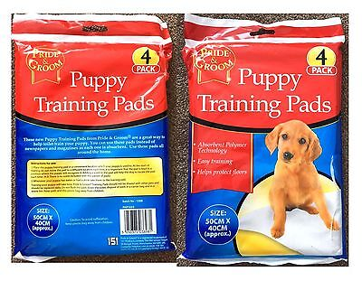 PUPPY TRAINING PADS PRIDE & GROOM 4 PACK PET TRAINER PAD WEE WEE MATS INDOORS