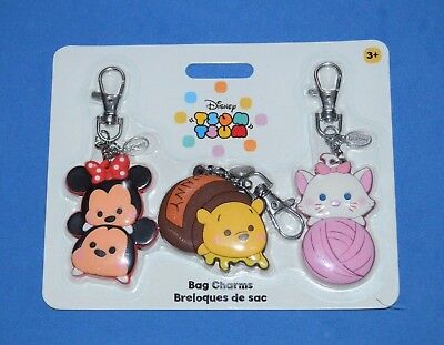 Disney Store Mickey and Minnie Mouse and Friends Tsum Tsum Bag Charms New