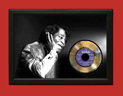 James Brown 2 Poster Art Wood Framed 45 Gold Record Display C3