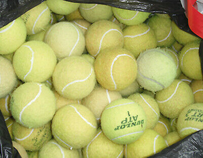 24 x CLEAN, SINGLE BRAND, TENNIS BALLS - FREE P&P - Used, NOT MIXED BRAND