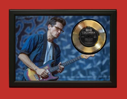 John Mayer 2 Poster Art Wood Framed 45 Gold Record Display C3