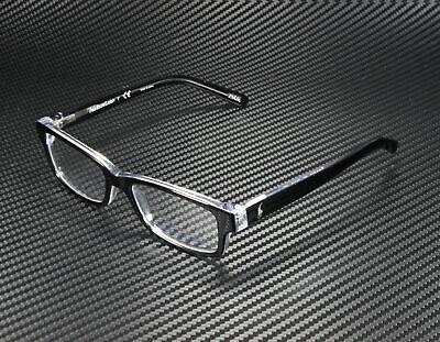 RALPH LAUREN POLO PREP PP8518 541 Black Crystal Demo Lens 46 mm Men's Eyeglasses