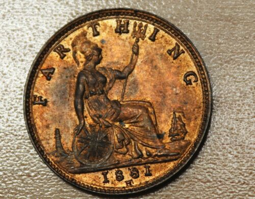 1881 H Great Britain Farthing