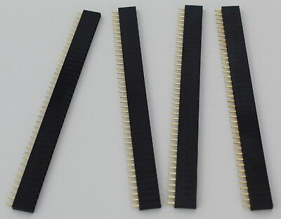 4pcs 1x40 40 Pin Female Header For Pcb Arduino 2.54mm 0.1 Pitch Usa Comb Ship
